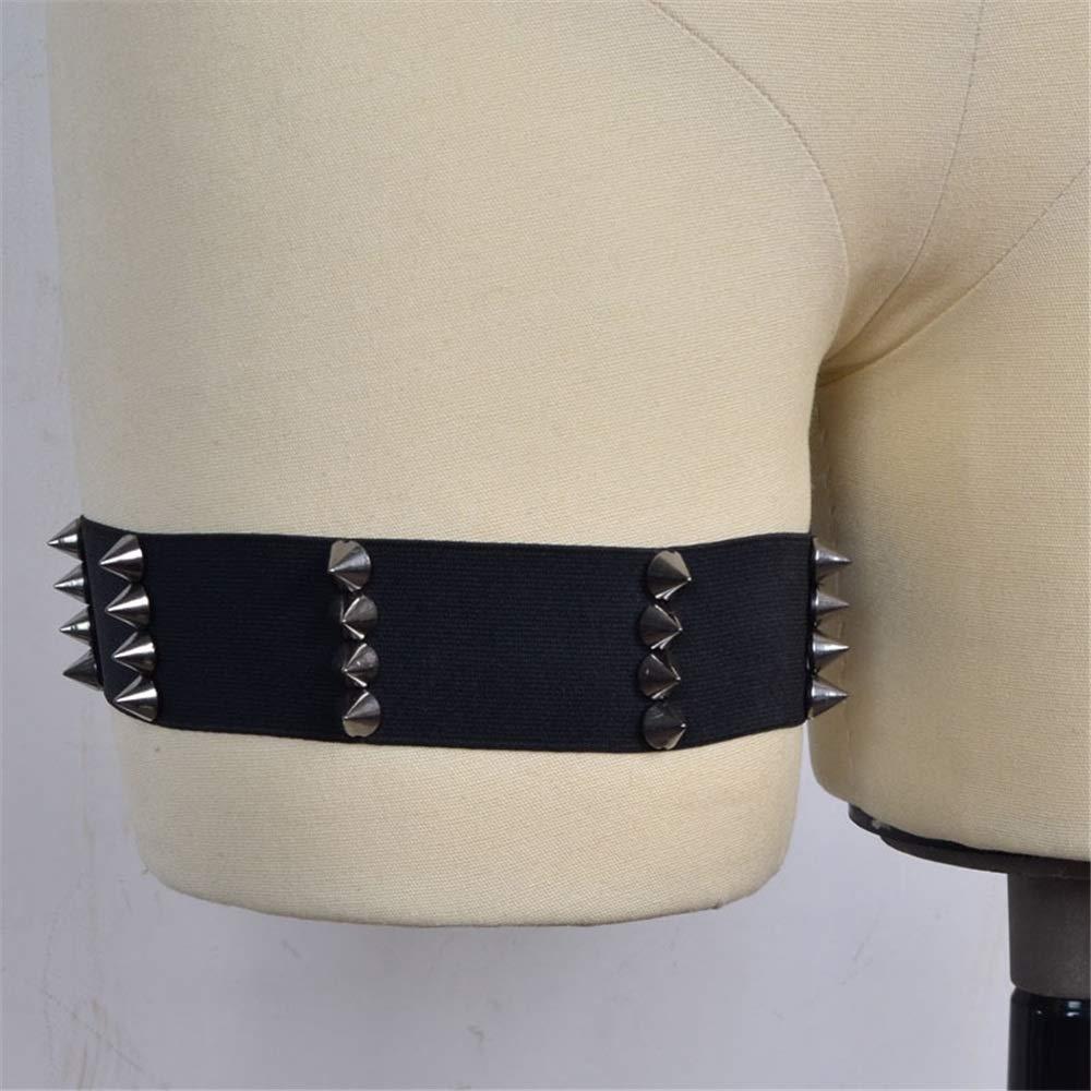 2 Confezioni Ofgcfbvxd Cintura da Donna in Pizzo Elasticizzato da Sposa Street Beat Punk Rock Style Giarrettiera Unisex a Gamba Fissa Anello Antirughe Belt Set per Gli Accessori da Sposa da Sposa