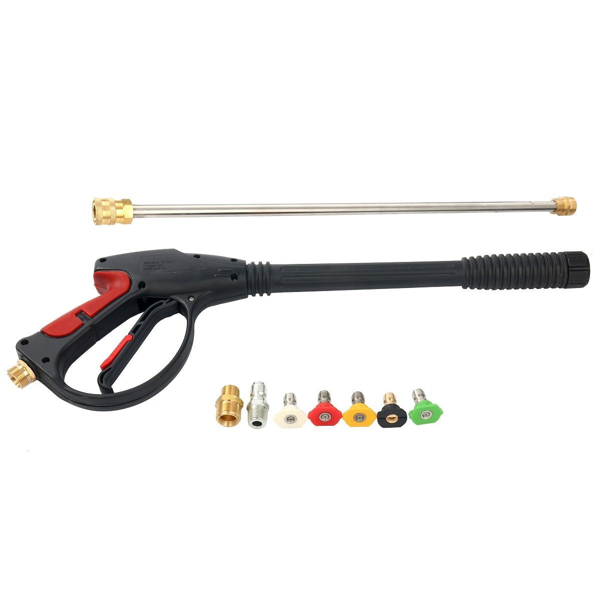 8MILELAKE 8milake 4000 PSI Pressure Washer Gun Kit with Male Metric Adapters & 4 Nozzles and 1 soap Nozzle for Car Pressure Power Washers