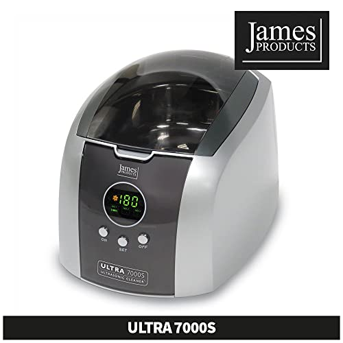 James Products Ultrasonic 7000S Jewellery, Spectacle, CD/DVD, Coins, Personal Care Cleaner With Extended Timer