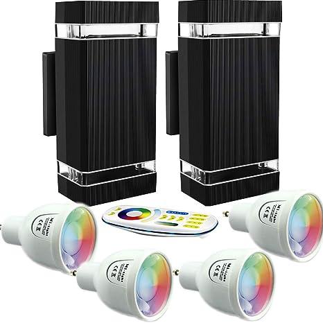Lámpara caminos aluminio ip54 LED Modern negro blanco cálido