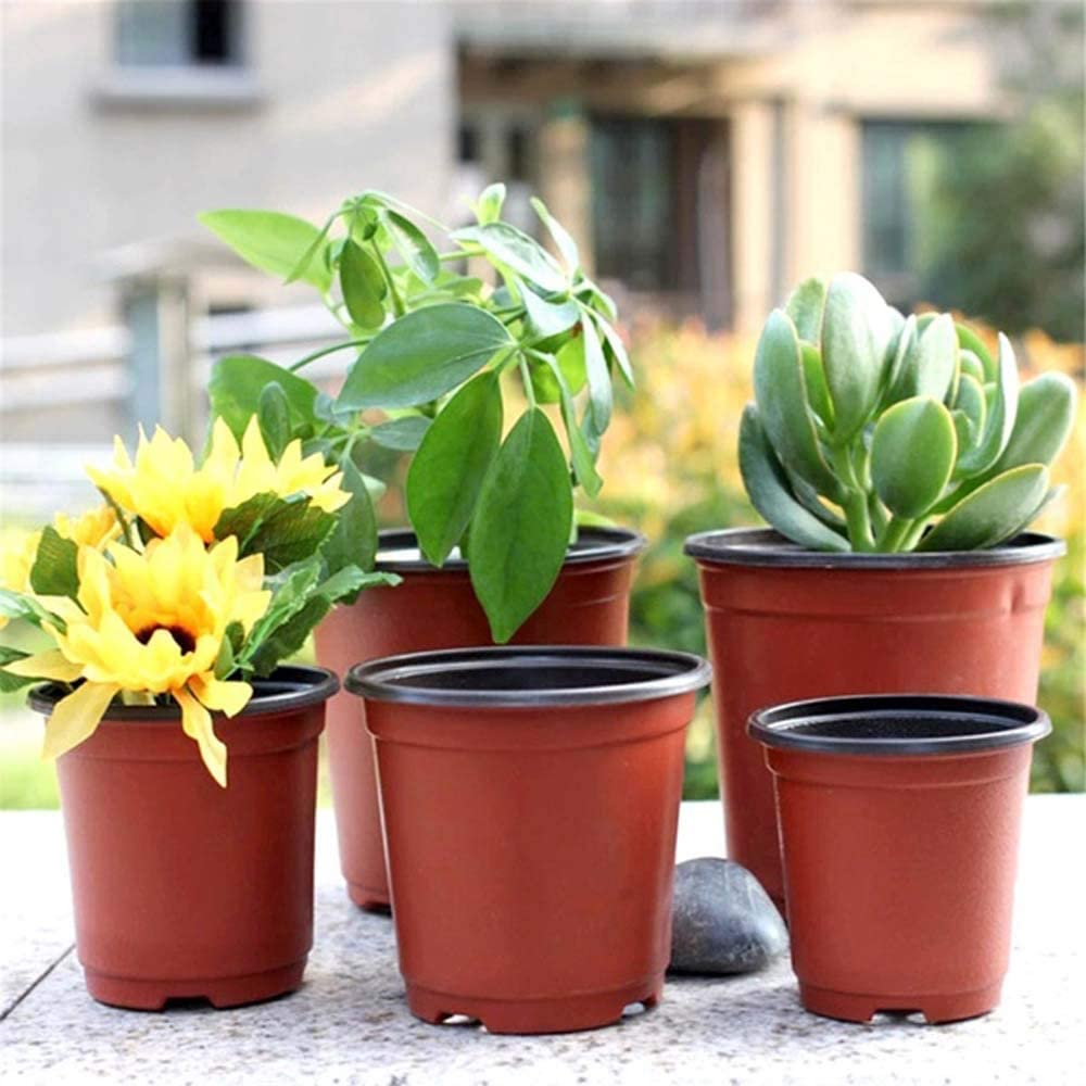 Fournitures de Jardinage Pots de p/épini/ère en Plastique Souple p/épini/ère en Terre Cuite avec Trous de Drainage Pot de Fleur MZY1188 20pcs Mini Pots de Plantes en Plastique