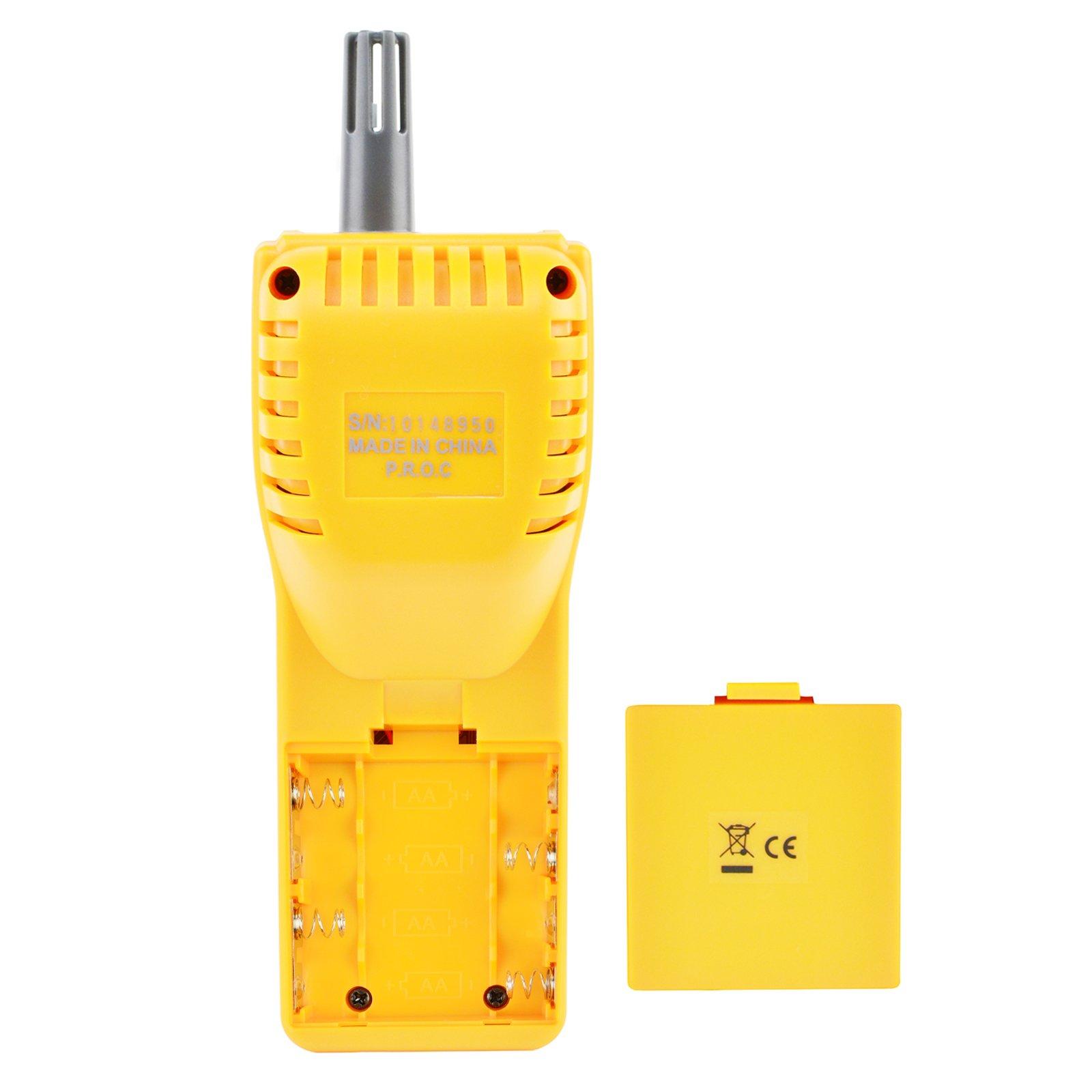 Portable Digital Carbon Dioxide Temperature Humidity Indoor 9999ppm NDIR  Sensor IAQ CO2 Monitor Wet Bulb Temperature (WB) Dew Point (DP) Tester CO2