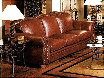 Phenomenal Amazon Com Cognac Finish 100 Real Italian Leather Sofa Gmtry Best Dining Table And Chair Ideas Images Gmtryco