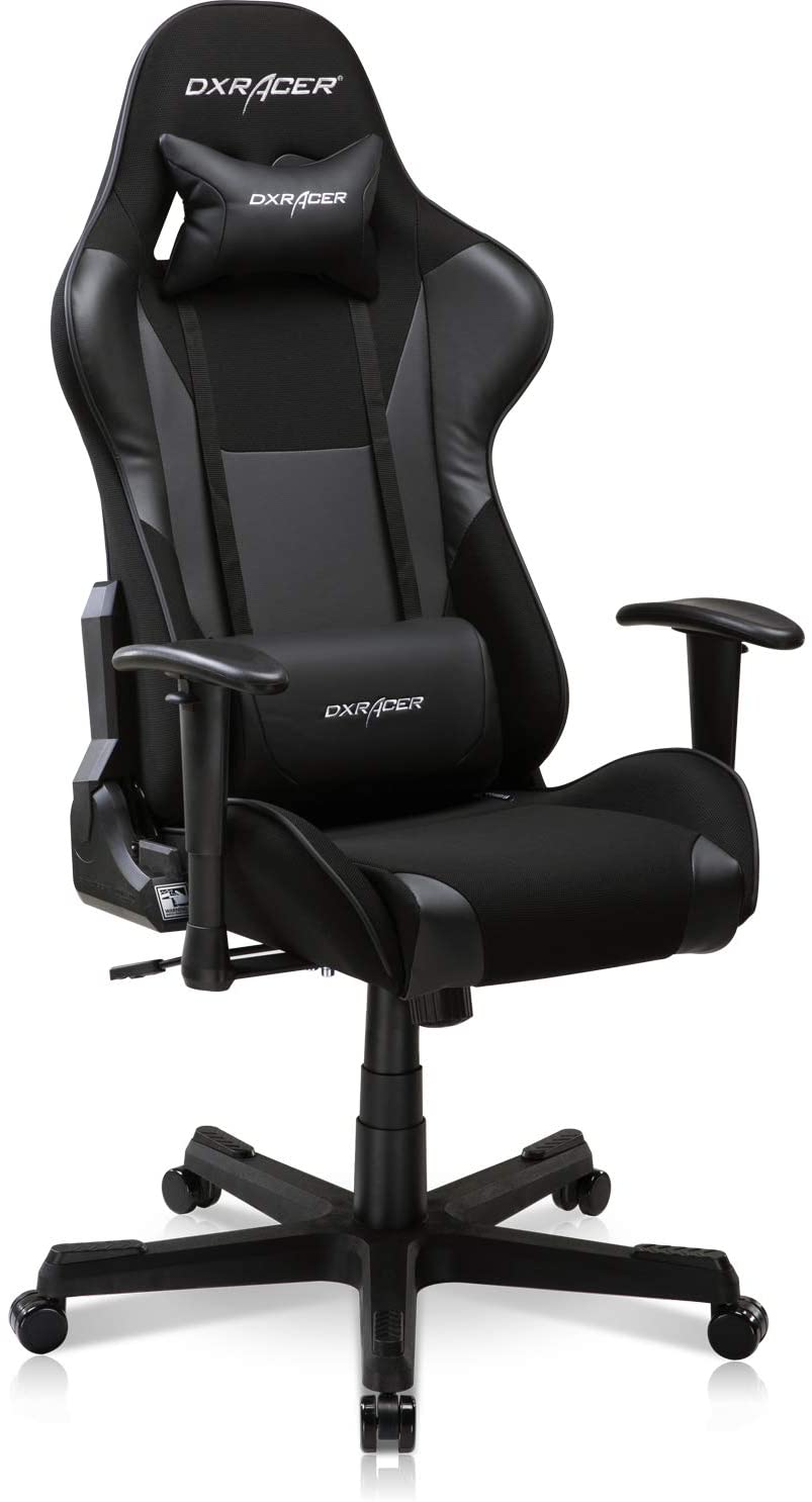DXRacer Formula Series Gaming Chair Ergonomic Home Office Armchair Comfortable Desk Recliner High Backrest Computer Seat | Height Swivel, Directional Armrest, Strong Mesh and Premium PU Leather