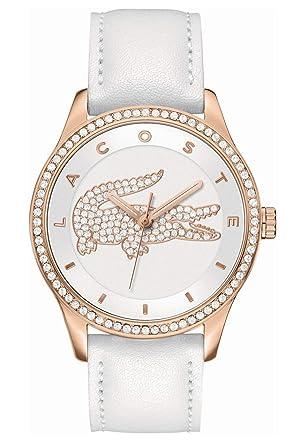 050853a16c4f Lacoste Reloj para Mujer de Cuarzo con Correa en Cuero 2000821  Amazon.es   Relojes