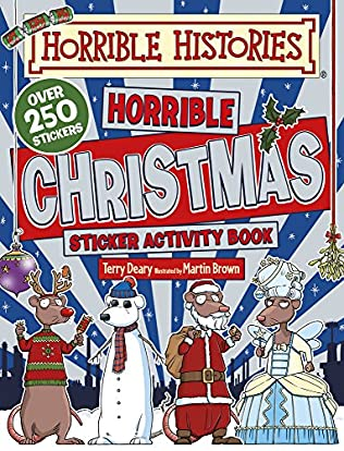 book cover of Horrible Histories Christmas Sticker Activity Book