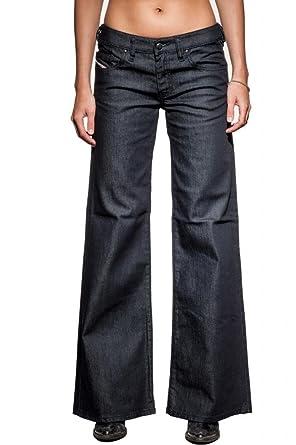 Amazon.com: Women's Diesel YBO 008AA Wide Leg Bootcut Jeans - Size ...