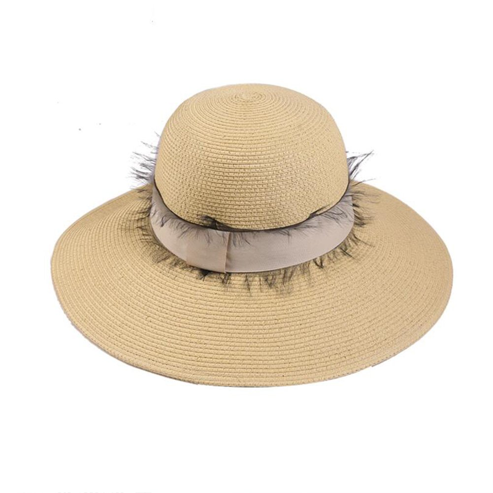 Primary colors Womens Straw Hat Women's Vintage Outdoor Straw Hat  Solid colord (color   Primary colors)