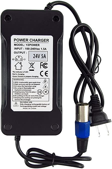Details about  /24v 5 amp 5A Heavy Duty 12AH-80AH Mobility Scooter Wheelchair Battery Charger