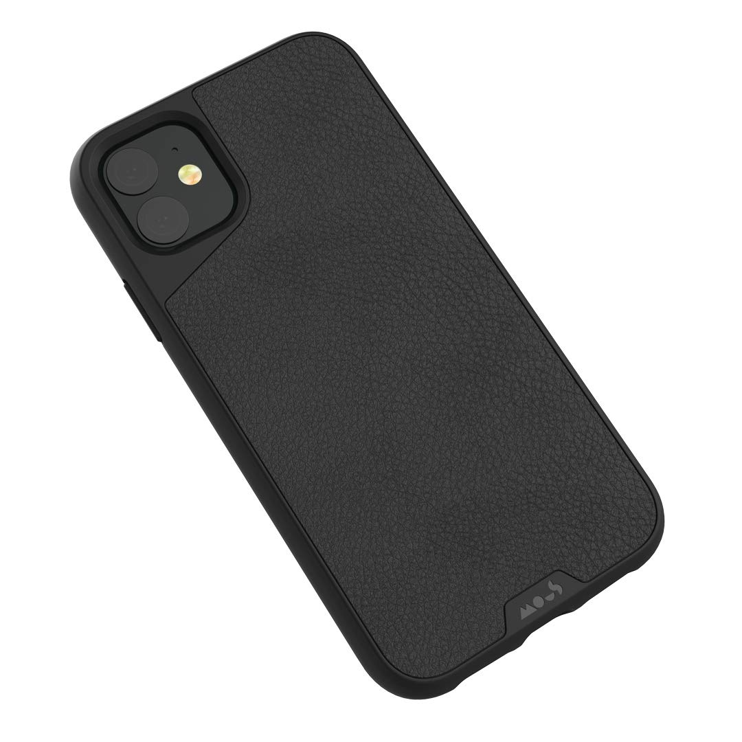 Mous - Protective Case for iPhone 11 - Limitless 3.0 - Black Leather - No Screen Protector by MOUS