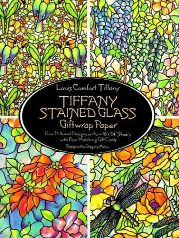 Tiffany Stained Glass Giftwrap Paper (Dover Giftwrap)