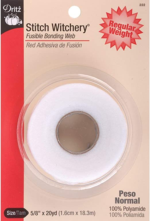 DRITZ NO SEW REGULAR WEIGHT HEMMING TAPE IN 5//8 INCHES WIDE X 20 YARDS LONG ROLL