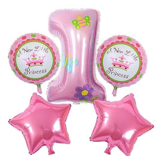 Valink 5pcs Feliz Cumpleaños Decoración Helio Metalizado ...