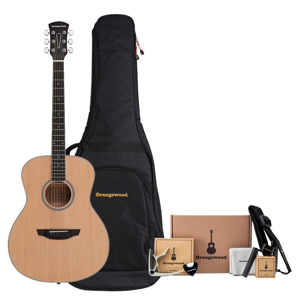 Orangewood Victoria Grand Concert Acoustic Guitar w/ Spruce Top, Ernie Ball Guitar Strings, Padded Gig Bag and Accessory Kit w/ Guitar Strap, Guitar Tuner, Guitar Picks, Acoustic Guitar Strings & More Praxis Musical Instruments Inc. OW-VICTORIA-S-AK