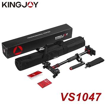 Estabilizador de aleación de Aluminio portátil KINGJOY con botón Giratorio de Carga Manual Carga máxima de 5 kg para videocámara con cámara réflex Digital: ...