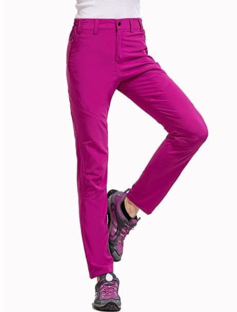 1873c667d50 Lakaka Womens Walking Trousers Lightweight Summer Quick Dry Hiking Mountain  Pants Waterproof Outdoor Sportswear  Amazon.co.uk  Sports   Outdoors