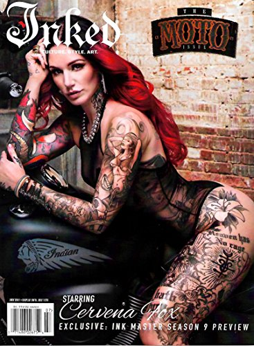 Inked Magazine (July, 2017) The Moto Issue: Cervena Fox Cover (Fox Inked)