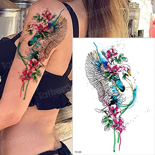 3pcs-Tattoo y Body Art Alces Tatuaje Color Agua Tatuaje Busto ...