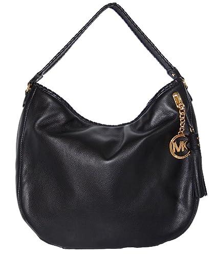 1fea11cf7908 Michael Kors Bennet LG Black LEATHER Shoulder Bag: Handbags: Amazon.com
