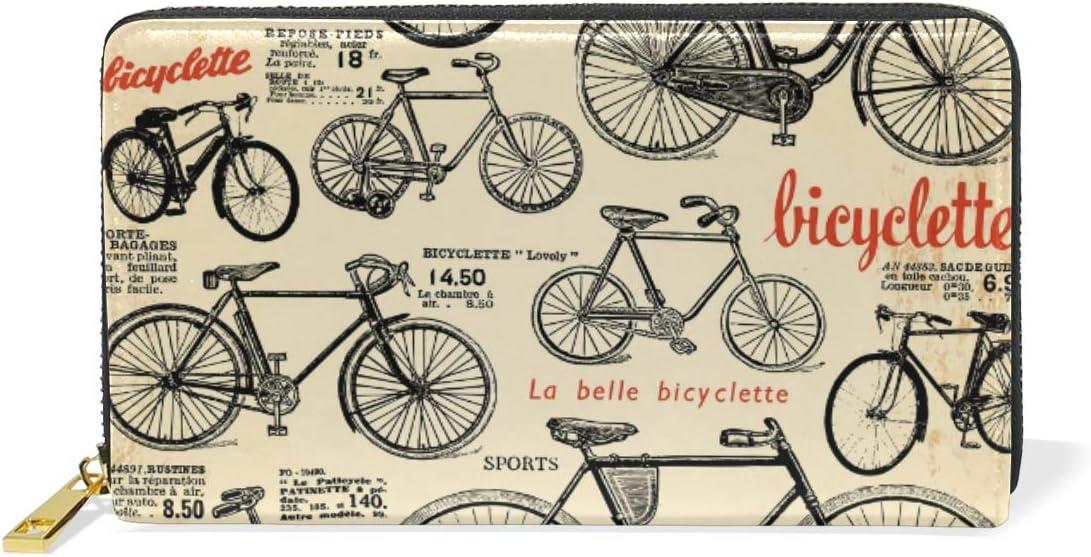 Arte De La Bicicleta Antigua Monedero Cremallera Billetera de ...