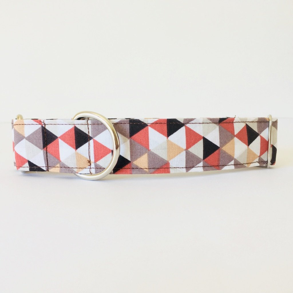 Collar Perro Martingale Modelo Tri/ángulos Naranja