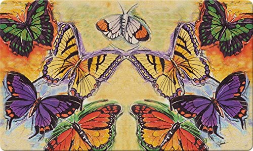 Toland Home Garden 830055 Flight Of The Butterflies 18 x 30 Recycled Mat, USA Produced
