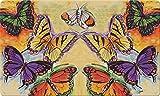 Toland Home Garden Flight of The Butterflies 18 x 30 Inch Decorative Floor Mat Colorful Flying Butterfly Doormat