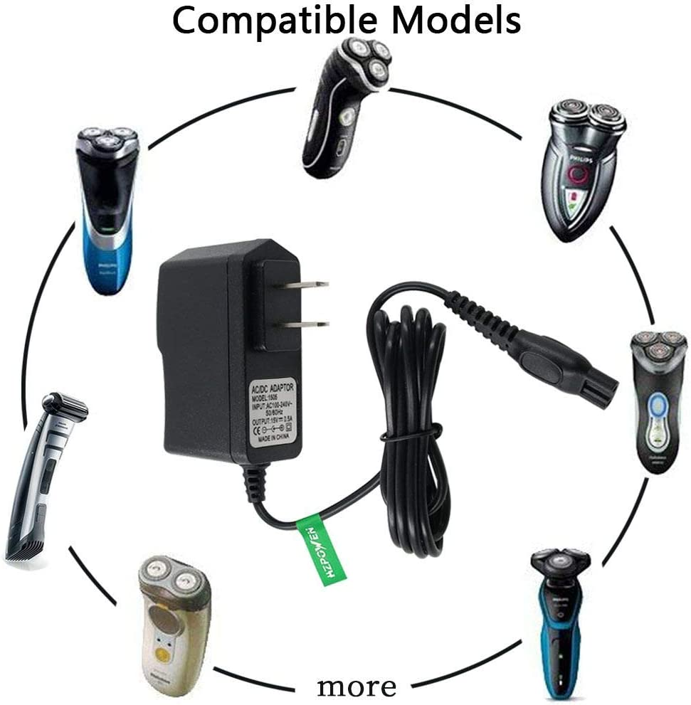 Cargador de 15 V para Philips Norelco Shaver HQ8505 2100 3100 3500 ...