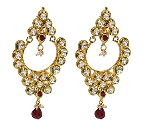 4587f8512 Muren New Latest designer Fancy party wear golden Colour metal Earring/Ear  ring/Bali for women/women's/girl/girl's/girls/Female: Amazon.in: Jewellery