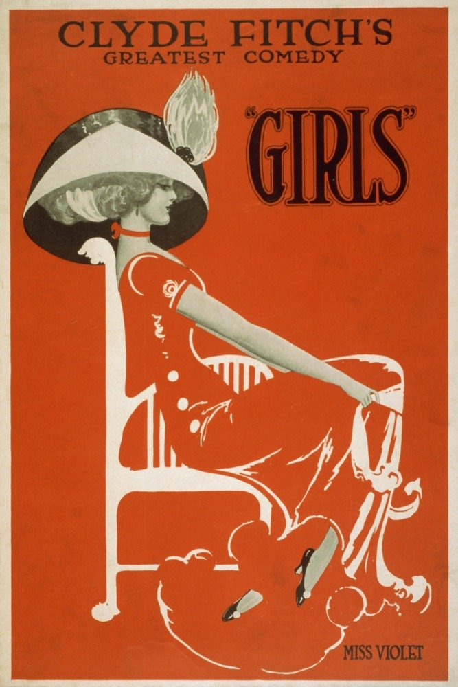 Clydeフィッチ's Greatestコメディ、Girls Theatreポスター# 1 36 x 54 Giclee Print LANT-4204-36x54 36 x 54 Giclee Print  B01MG3KN7D