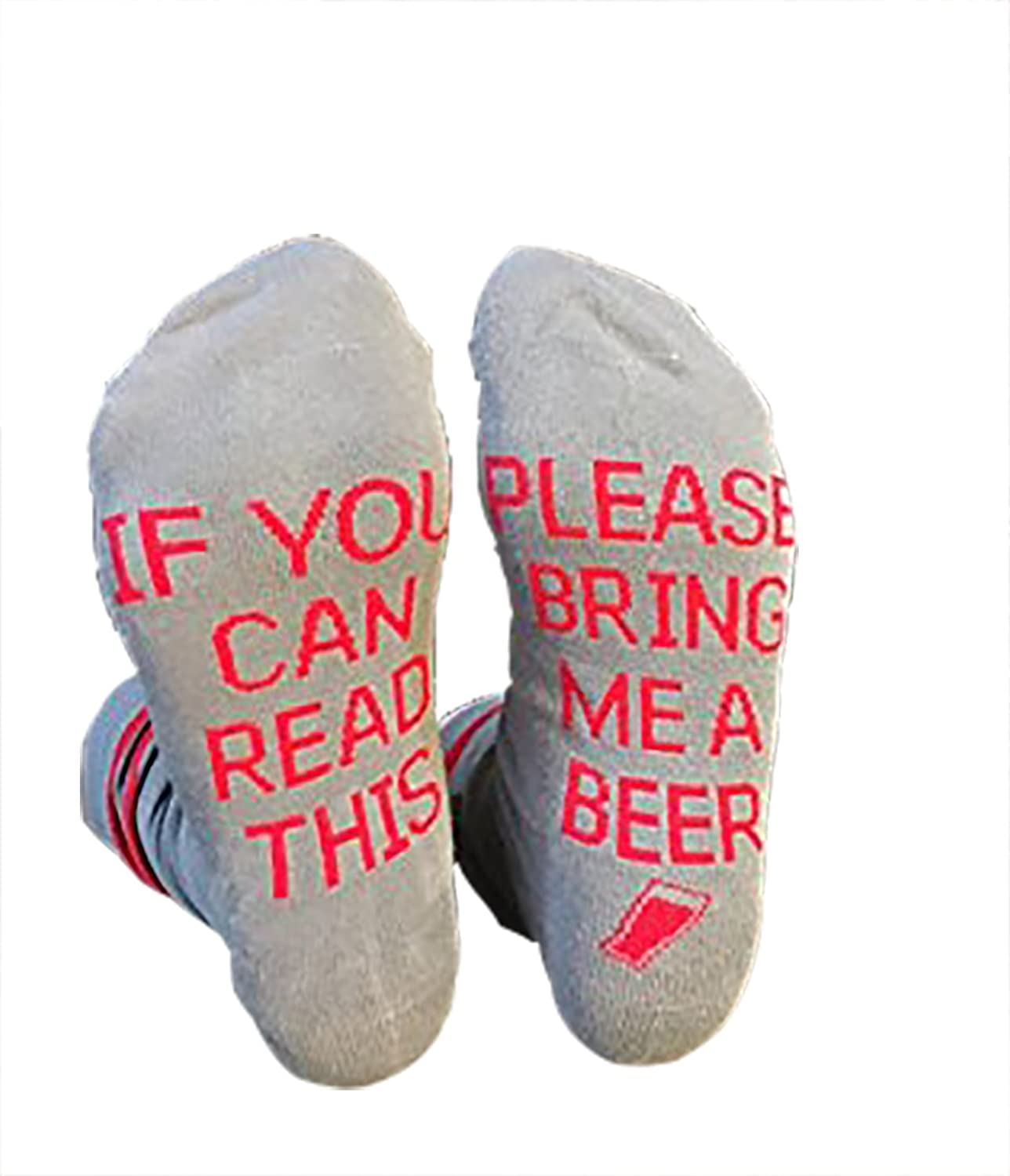 Easyhon Christmas Unisex Socks IF You Can Read cotton Socks Set
