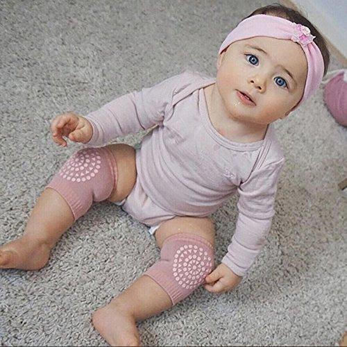 Romote b/éb/é genou Pads 3 paires b/éb/és rampants Anti-Slip Protection du genou enfant en bas /âge Protecteur de s/écurit/é genou respirant design unisexe genou r/églable coude rose noir bleu clair