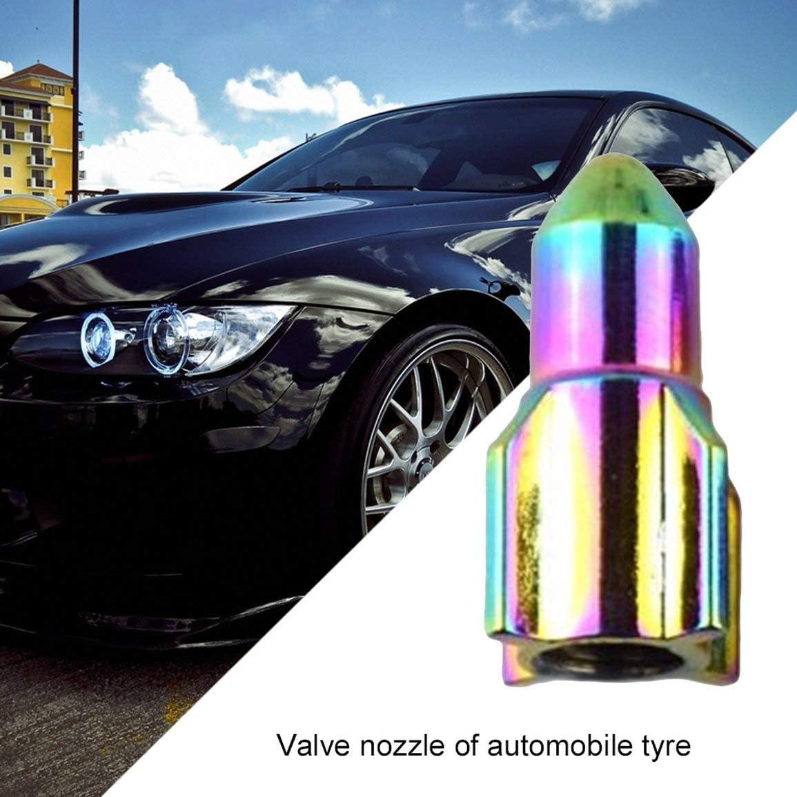 Couleur: Multicolore Garciaria Voiture pratique Pneu de voiture Pneus Valve Dust Caps Auto Moto Stem Caps Bouchon de fus/ée en forme de fus/ée Haute qualit/é Stem Caps