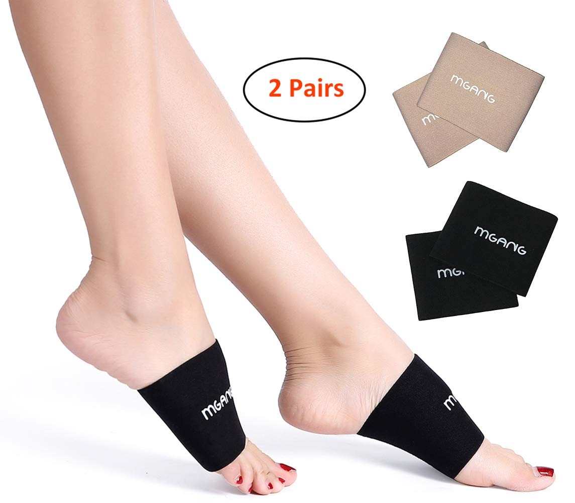 597d4676c2 Amazon.com: Compression Arch Sleeves, MGANG Arch Support Brace for Pain  Relief, Foot Care, Heel Spurs, Feet Pain, Flat Arches, Perfect Fit to  Plantar ...