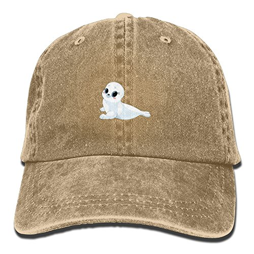 Adult Beautiful Baby Seals Sports Adjustable Structured Baseball Cowboy Hat