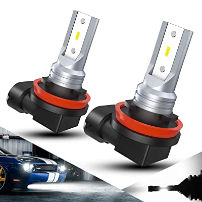 ZonCar H11 H9 H8 Led Fog Light Bulbs 2000 Lumens Brighter Than Halogen 3 Times Upgraded CSP Fast Dissipate Heat Chips LED Fog Light Bulb Replacement 6000K Xenon White 2PCS: Automotive