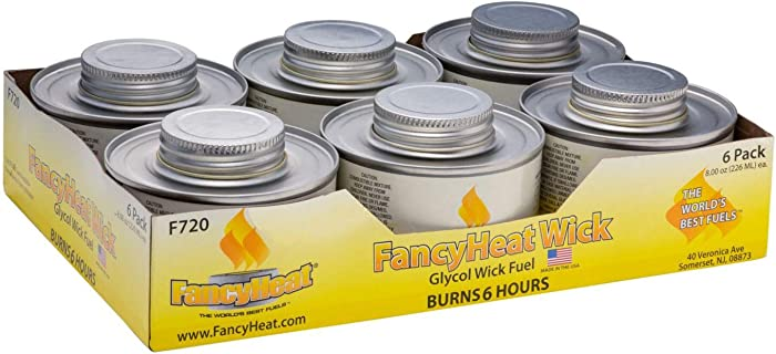 Fancy Heat 6 Hour Clean Burning Chafing Dish Fuel With Minimal Odor And Soot - 6 Pack