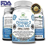 Omega 3 Fish Oil, 2000mg Supplement/w 600 DHA +800