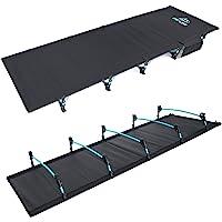 FE Active Compact Hopfällbar Säng - Aluminiumstänger, Ultralätt, Bekvämt att Sova för Vuxna och Barn, Bärbar Campingbädd…