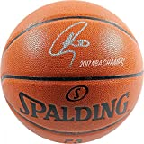Stephen Curry Signed Spalding I/O NBA Basketball w/ '2017 NBA Champs' Insc