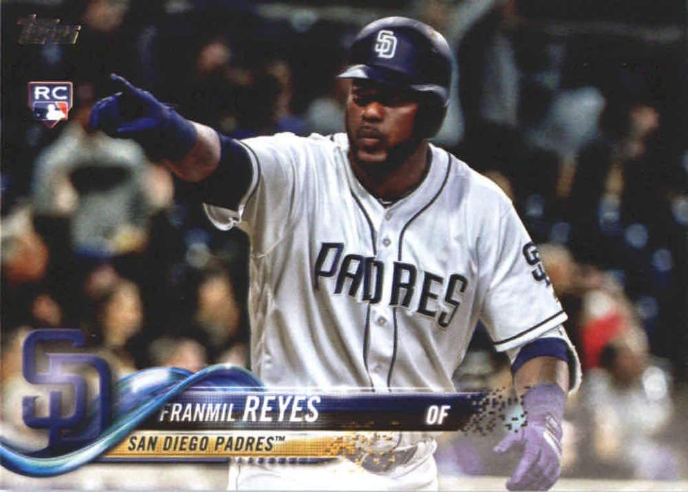 2014 Bowman Chrome Prospects #BCP13 Franmil Reyes Pre-Rookie Baseball Card 1st Bowman Chrome Card