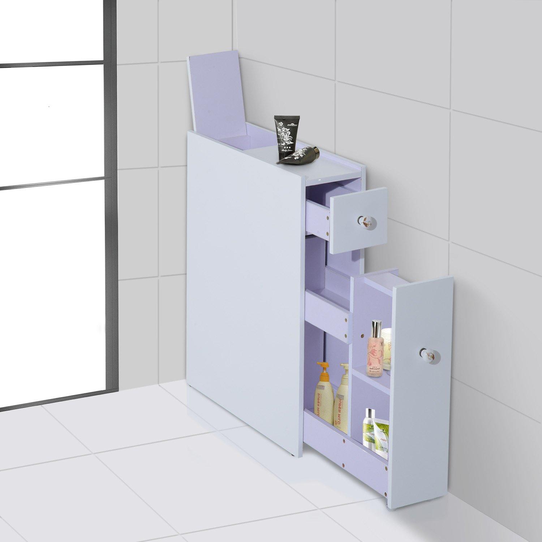 HOM Bathroom Cabinet Floor Standing Cupboard Modular Shelves