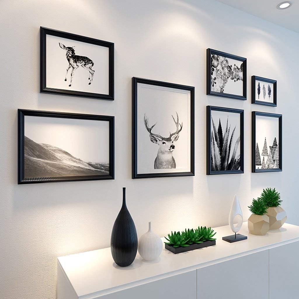 Cornici per Foto Grande Set di pareti Multi-Immagine Set di 7 Pezzi per Area Soggiorno Parete Camera da Letto 143 cm X 63 cm Colore: Dorato
