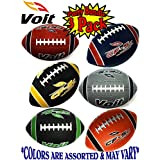"Voit 6"" Mini Rubber Inflatable Footballs (Indoor/Outdoor) Gift Set Party Bundle - 3 Pack (Asssorted Colors) Balls Ship Deflated"