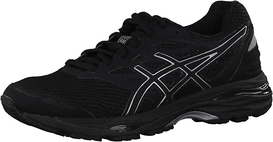 Asics - Gel-Cumulus 18 - Zapatillas Neutras - Black/Silver: Amazon ...