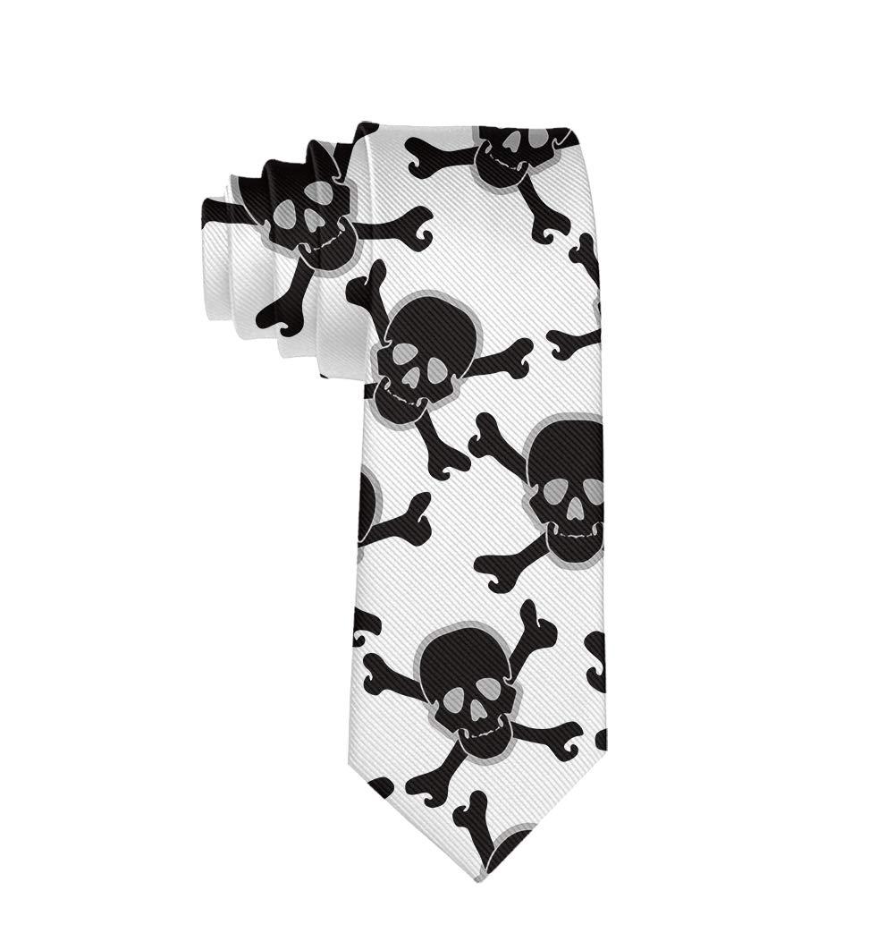 MrDecor - Corbata de Seda Unisex con diseño de Calavera Pirata ...