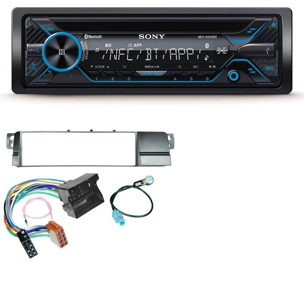 caraudio24 Sony MEX-N4200BT CD Bluetooth USB Aux MP3 Autoradio fü r BMW 3er E46 (Quadlock)