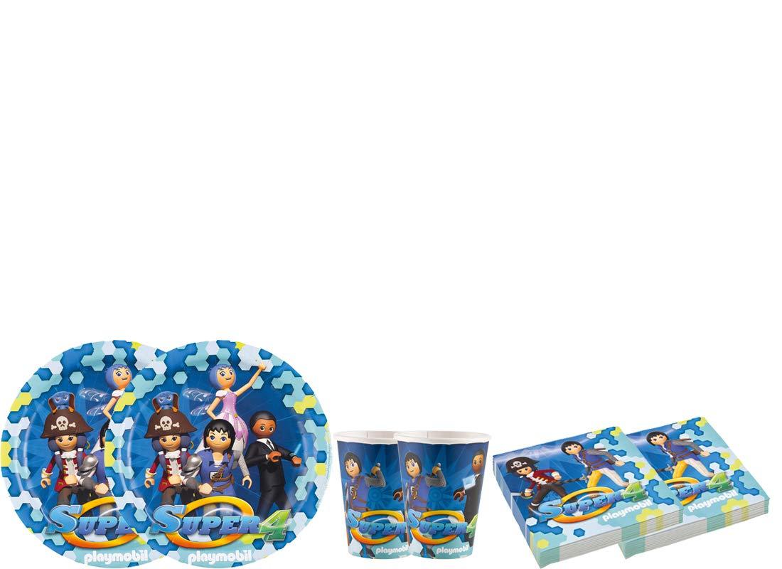 irpot Kit - A Fiesta de cumpleaños Playmobil Super 4: Amazon ...