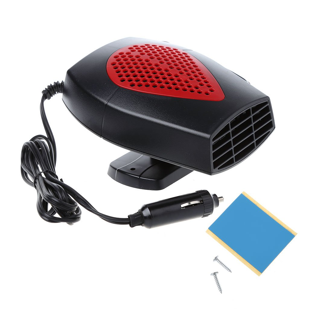 cici store 12V Portable Car Fan Heater - Warmer and Defroster Demister - Easy Snow Removal (red)