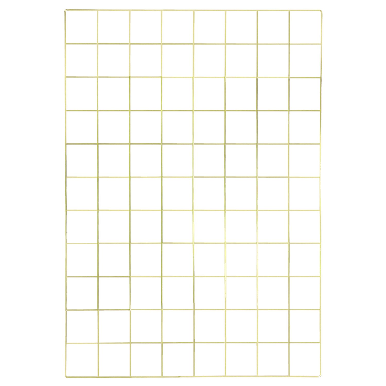 Simmer Stone Gold Wall Grid Panel for Photo Hanging Display Wall Decoration Organizer, Multi-Functional Wall Storage Display Grid, 10 Clips 4 Nails Offered, Set of 1, 17.7 x 25.6